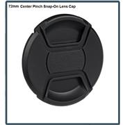 72mm Center Pinch Snap-On Lens Cap